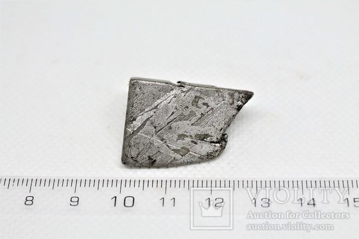 Залізо-кам'яний метеорит Seymchan, 25,5 грам, із сертифікатом автентичності, фото №4