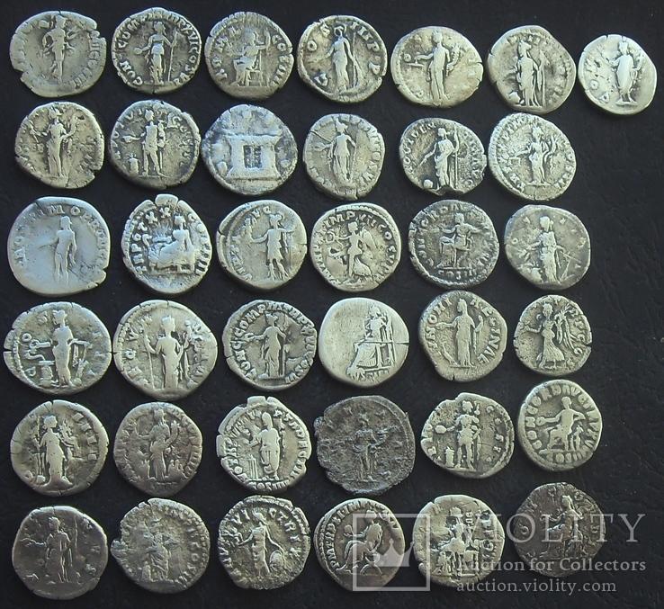 Монеты Древнего Рима (денарии) 37 штук., фото №3