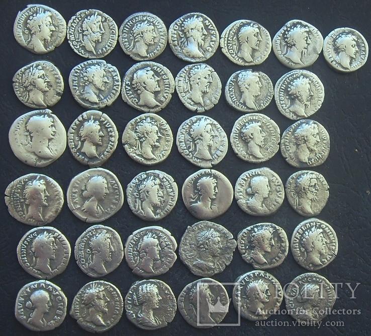 Монеты Древнего Рима (денарии) 37 штук., фото №4