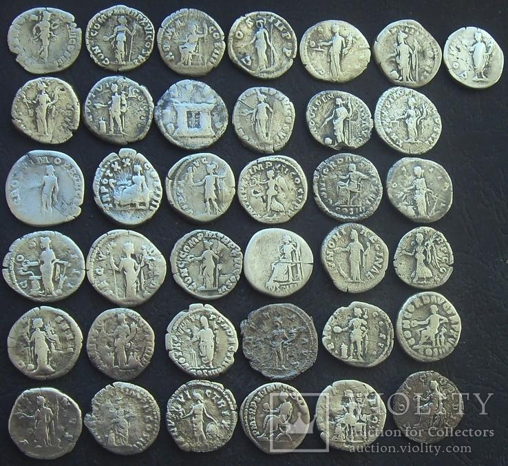 Монеты Древнего Рима (денарии) 37 штук., фото №5