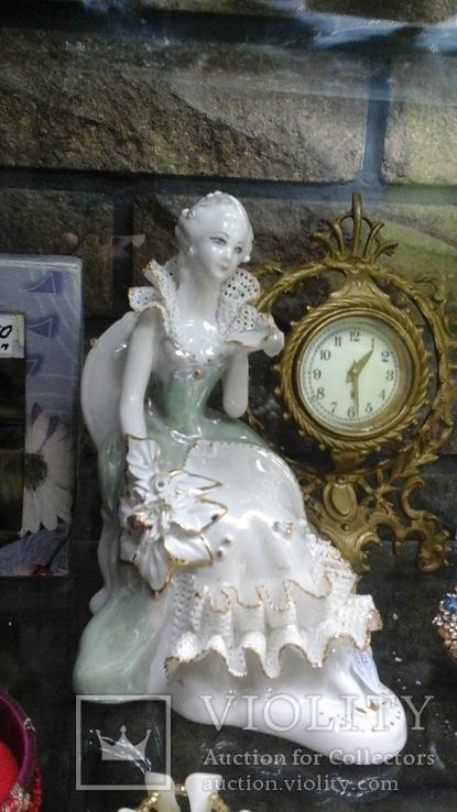 Статуэтка Княжна Тараканова, 18 см, фарфор, позолота, Германия, фото №6