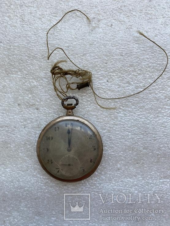 Винтажные швейцарские карманные часы в позолоте, фото №2