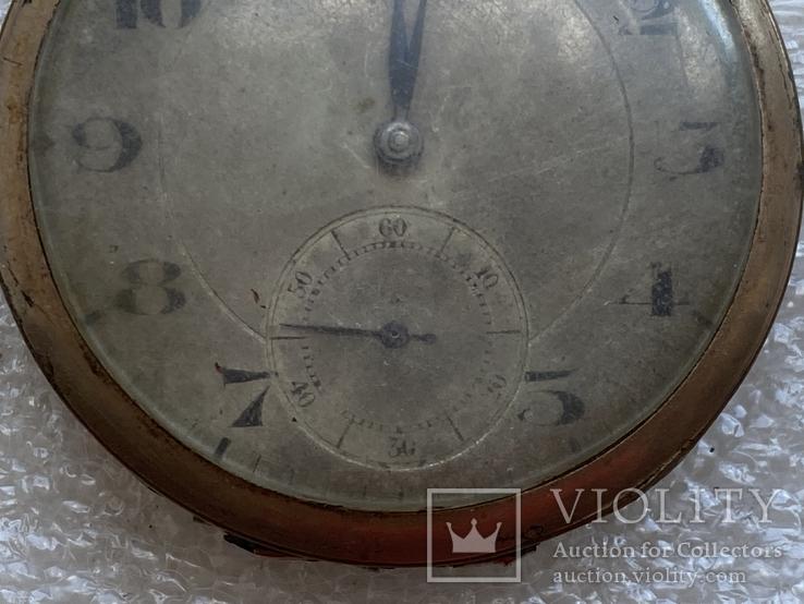 Винтажные швейцарские карманные часы в позолоте, фото №4