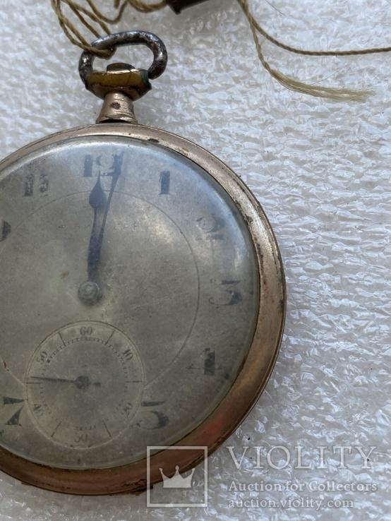 Винтажные швейцарские карманные часы в позолоте, фото №7