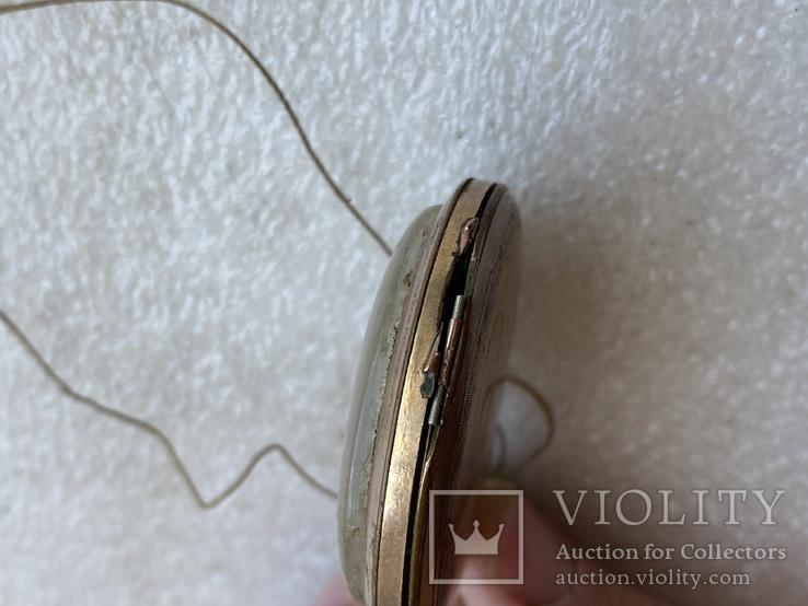 Винтажные швейцарские карманные часы в позолоте, фото №13