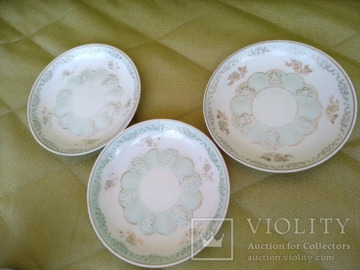3 чайные пары чашки и блюдца Дулево 1960 год, фото №7