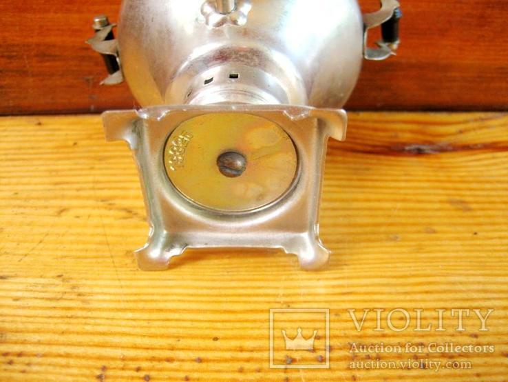 Старий сувенірний самовар з іноземним написом на кришці., фото №11