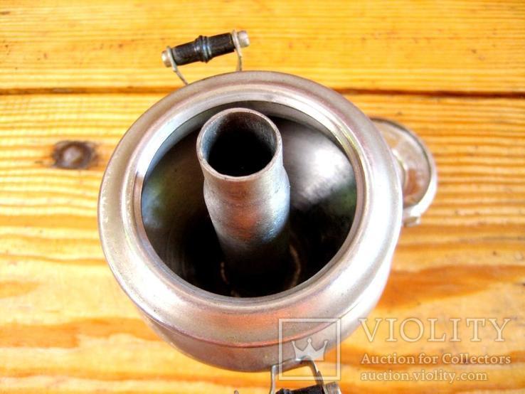 Старий сувенірний самовар з іноземним написом на кришці., фото №13