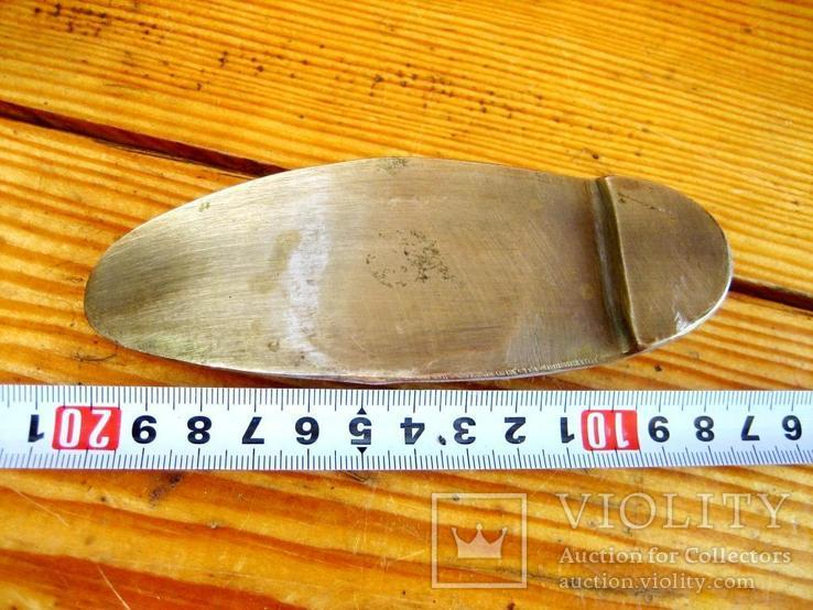 Велика старовинна бронзова попільничка, фото №8