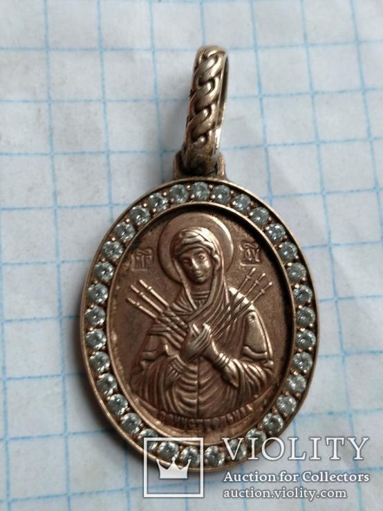 Семистрельная икона .( серебро, позолота), фото №3