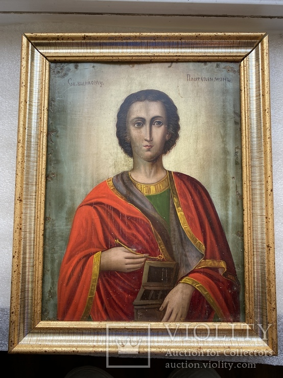Икона Святой Пантелеймон Целитель, фото №2