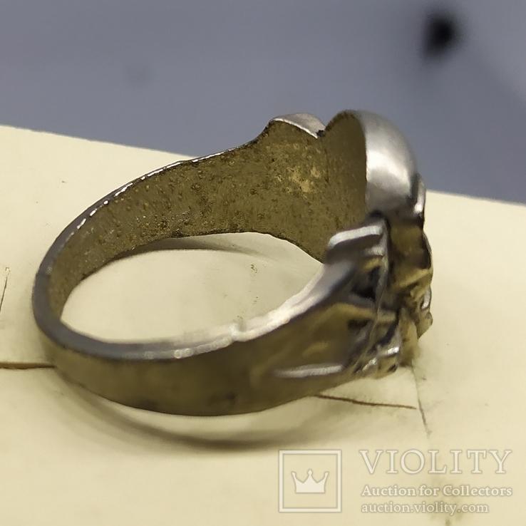 Кольцо с черепом. байкер, фото №7