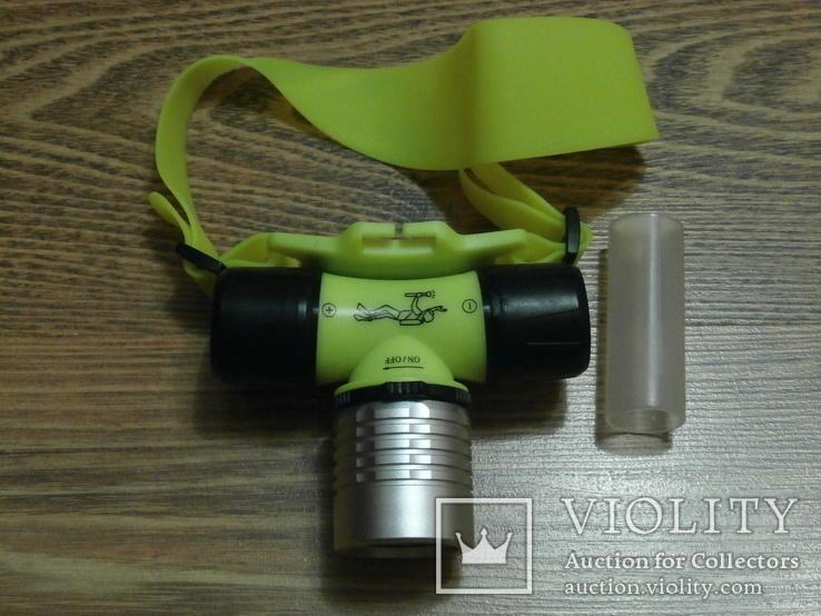Подводный Налобный фонарь для дайвинга Bailong Police BL-6800, фото №3