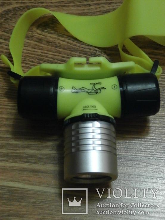 Подводный Налобный фонарь для дайвинга Bailong Police BL-6800, фото №4