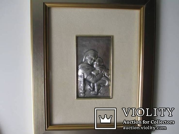 Икона Мадонна с ребенком. Италия. рама., фото №3
