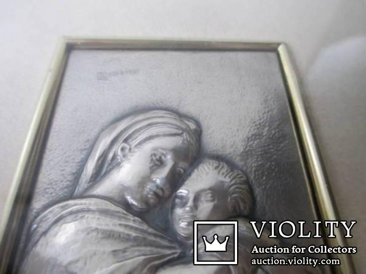 Икона Мадонна с ребенком. Италия. рама., фото №4
