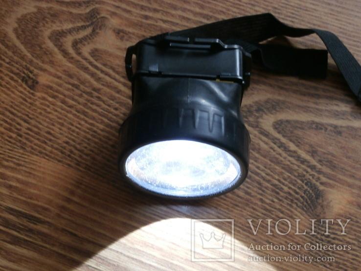 ФОНАРЬ налобный светодиодный 1 Led 1396-1, фото №5