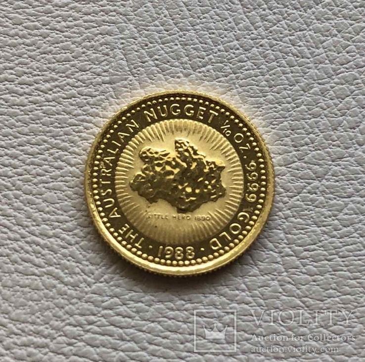 1/10 унции Австралия самородок 3,11 грамм золото 9999' 1988 год 15$