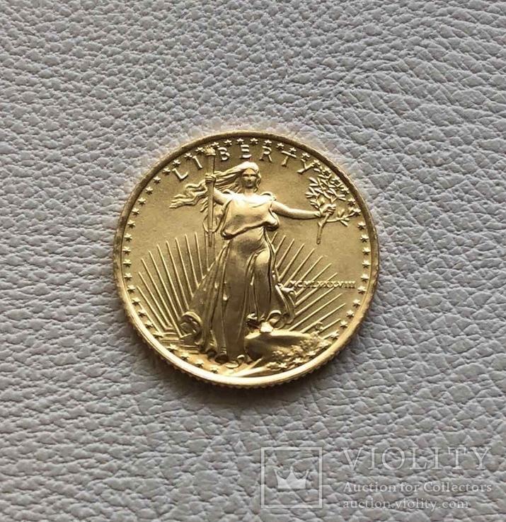 США 5$ 1988 год 1/10 унции 917' 3,39 грамм