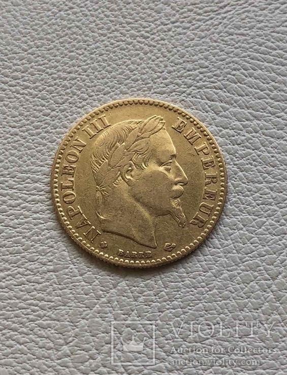 Франция 10 франков 1862 год 900' 3,2 грамма золота