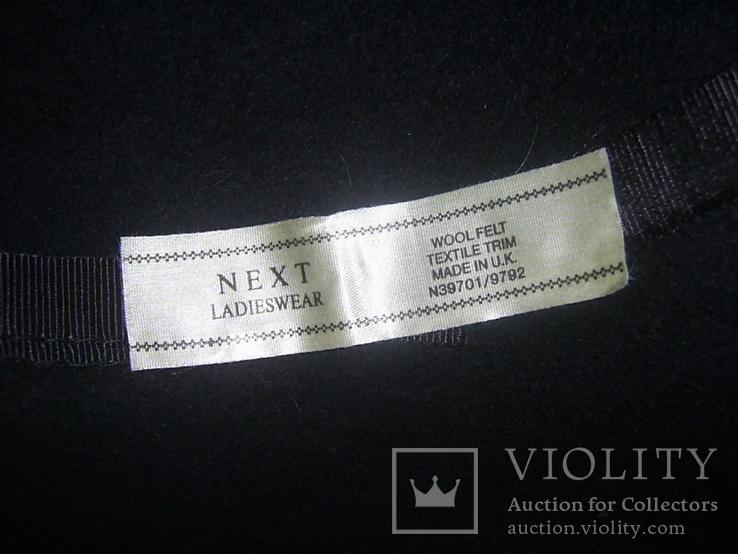 Шляпа женская шерсть тм Next Англия р.57, фото №7