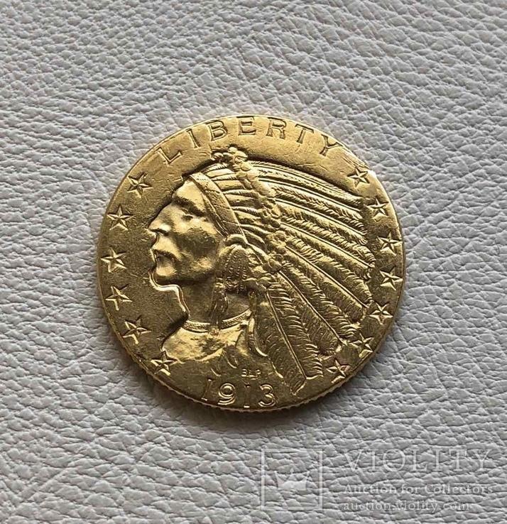 США 5 $ 1913 год золото 900'