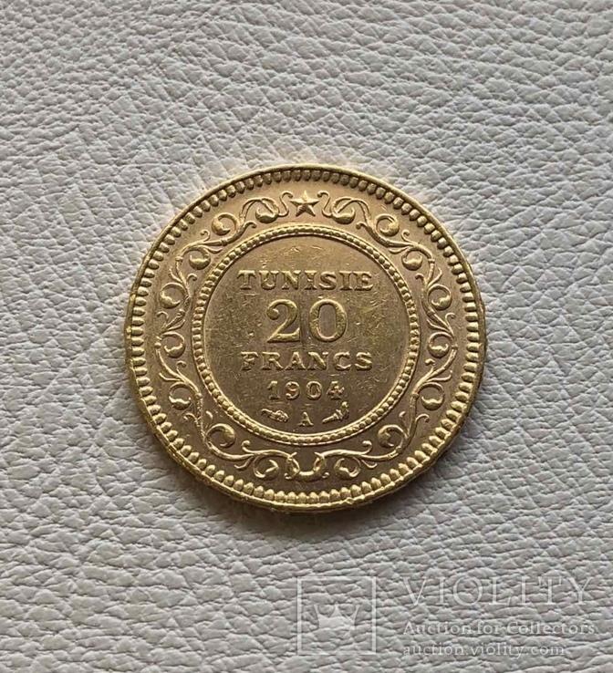 Тунис 1904 год 20 франков