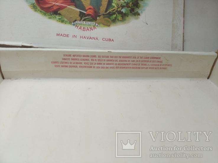 Коробка от сигар BOLIVAR Куба, фото №13