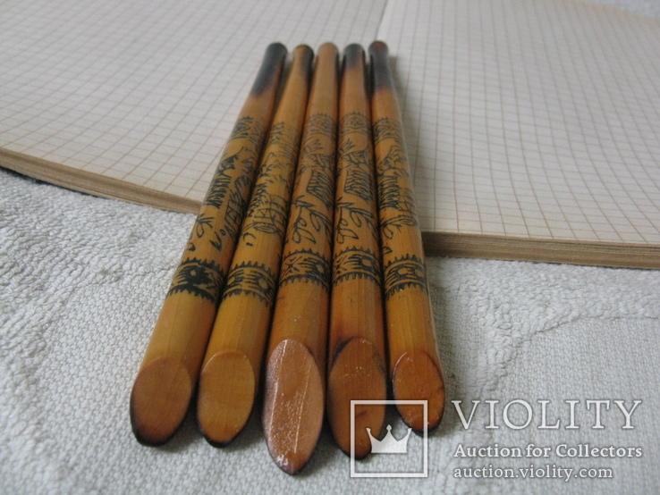 Ручки деревянные с Украинским орнаментом, 5 шт., фото №6