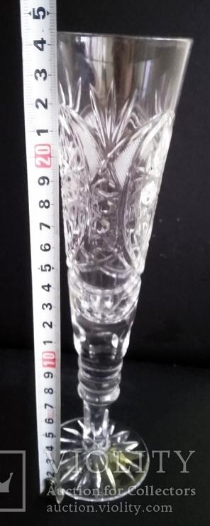 Хрустальный большой Фужер для шампанского, фото №4