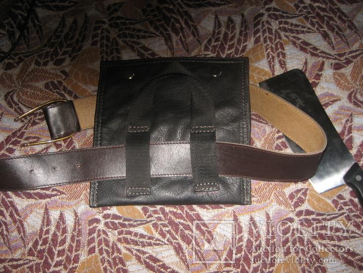 Топор - нож в кожаном чехле, фото №4