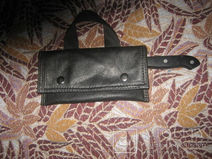 Топор - нож в кожаном чехле, фото №5