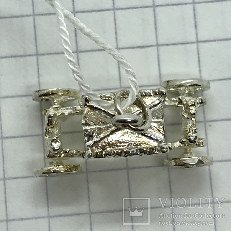 Кулон карета серебро, фото №6