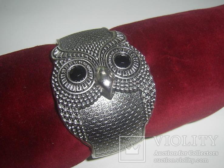 Браслет-краб  Сова символ мудрости, фото №2