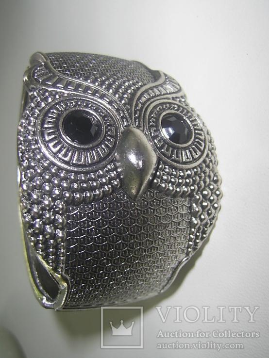 Браслет-краб  Сова символ мудрости, фото №7