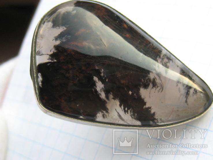 Большое кольцо обсидиан армения .19,5-20 размер.10,7 грамм., фото №9