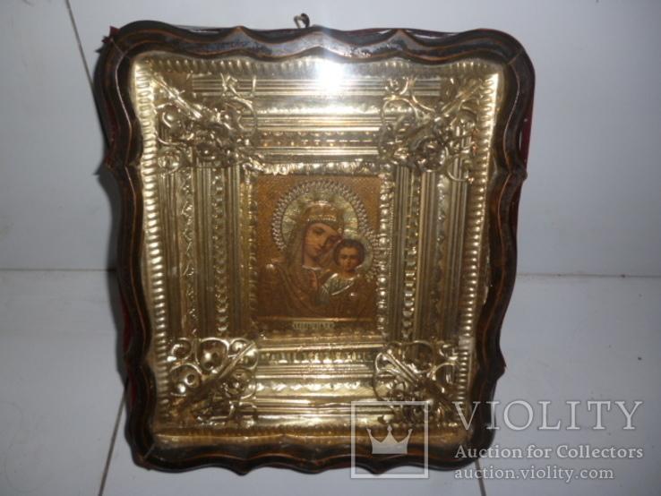 Икона Казанская Богородица 19 век. Жакко., фото №3