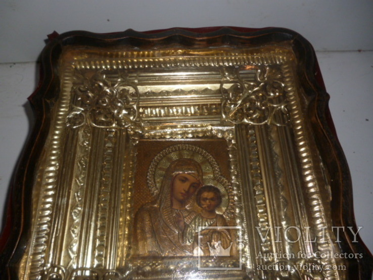 Икона Казанская Богородица 19 век. Жакко., фото №4