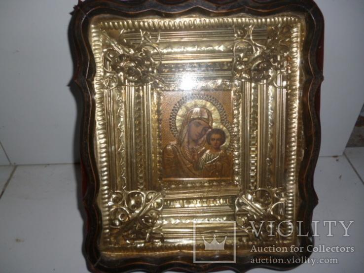 Икона Казанская Богородица 19 век. Жакко., фото №9