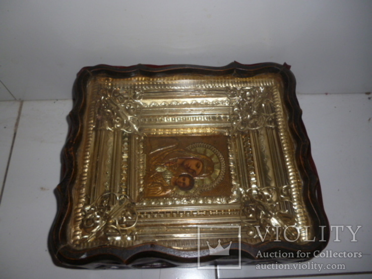 Икона Казанская Богородица 19 век. Жакко., фото №11