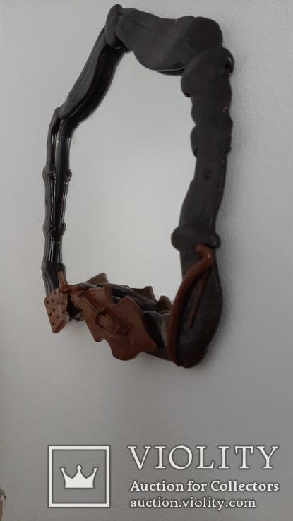 Зеркало настенное в керамической раме, фото №4