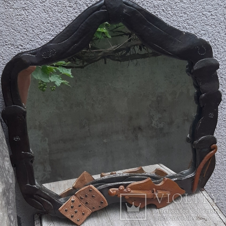 Зеркало настенное в керамической раме, фото №11
