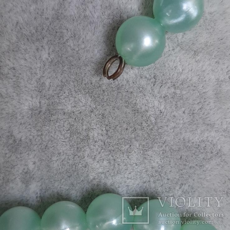 Бусы  цвета мяты , 94 см., Яблонекс, фото №7