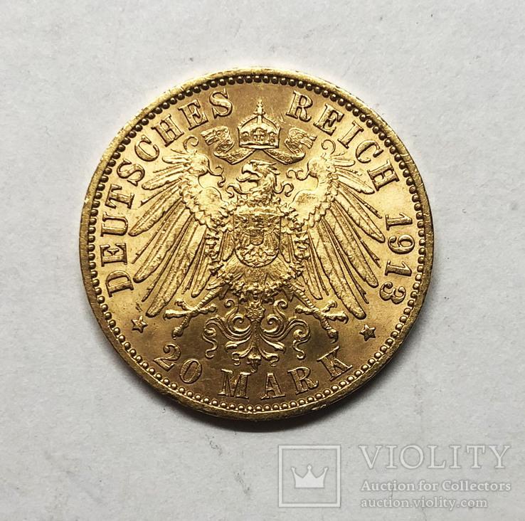 20 марок 1913 года. Гамбург. UNC.