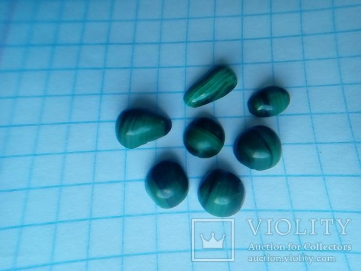 Малахіт природний Уральський камінь 7 шт., фото №6