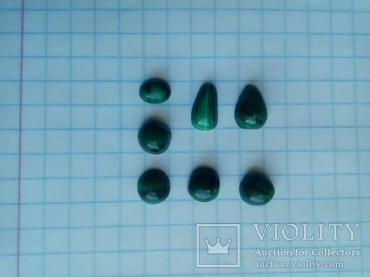Малахіт природний Уральський камінь 7 шт., фото №11