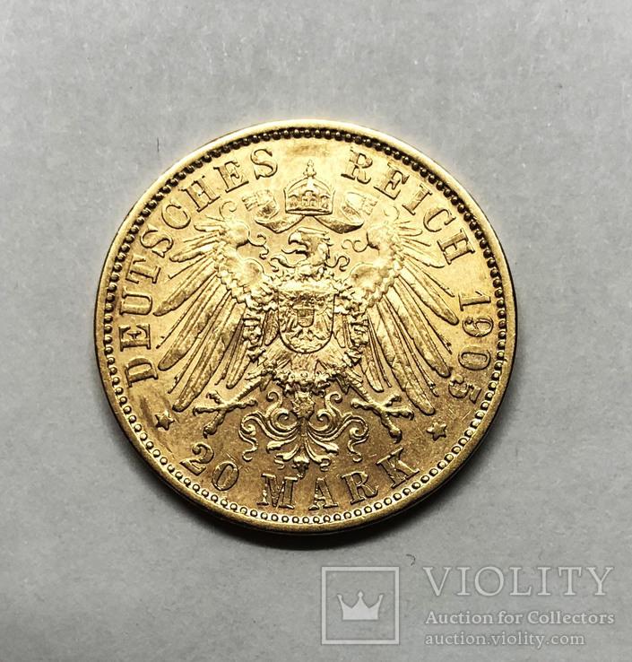 20 марок 1905 года. Бавария. aUNC.