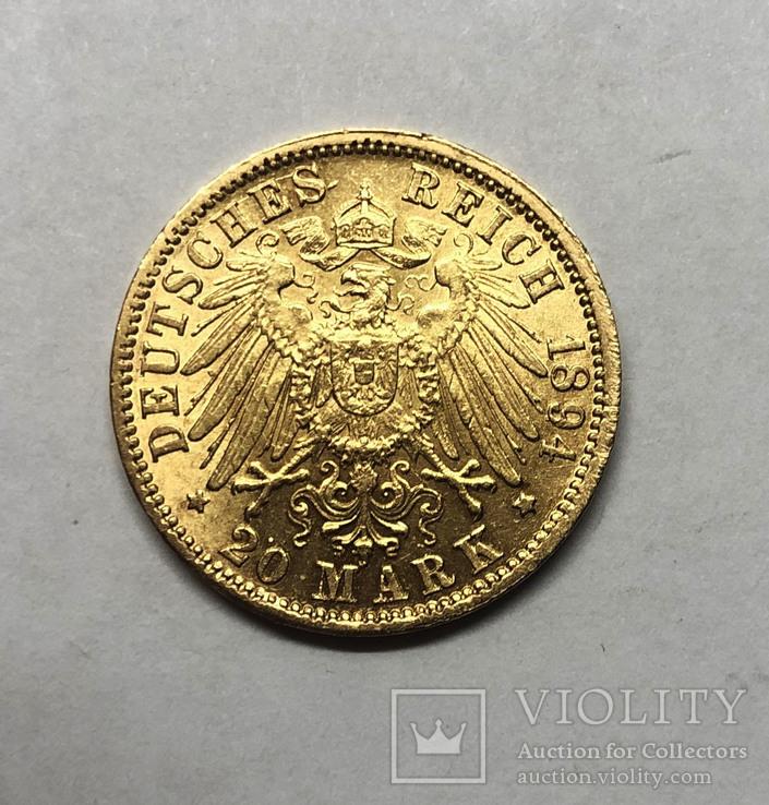 20 марок 1894 года. Баден. UNC.