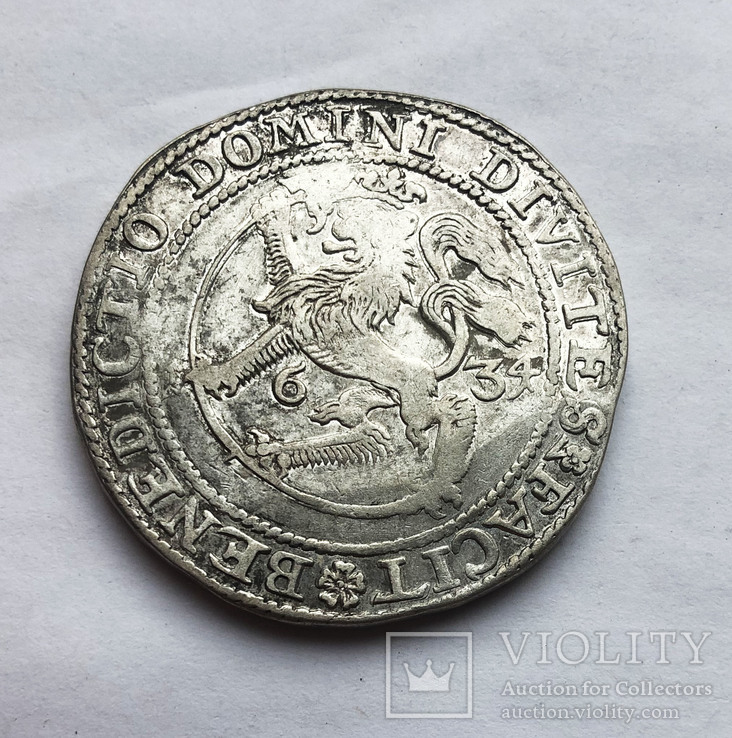Талер 1634 года. Норвегия.