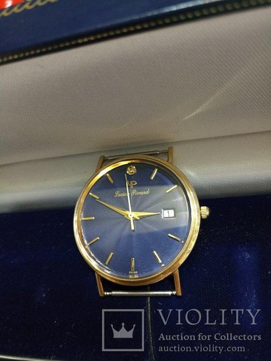 Швейцарские золотые часы Lucien piccard с бриллиантом, фото №4